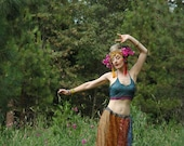 FREE SIZE...Indian Maxi Skirt... Boho Skirt... Gypsy Chic... Soft and Flowy Gorgeous Pattern Mix