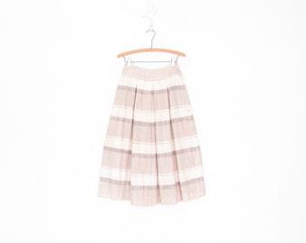 Earthtone 80s Skirt * Vintage Striped Skirt * Full Midi Skirt * XS Small