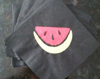 Watermelon Paper Cocktail/Lunch/Dinner Napkins - Package of 24