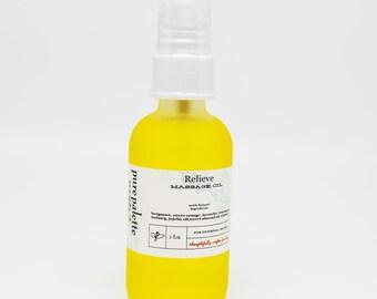 Therapeutic Massage Oil Bath & Body Relieve 100% Pure Natural Oils