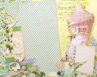 "Pretty DRESSFORM -  Finished  12""x12"" Scrapbook Page"
