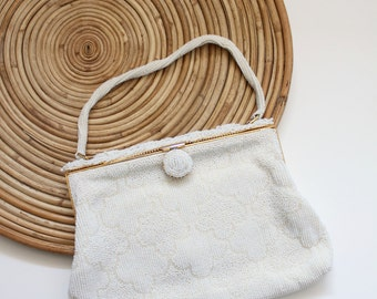 cloudy beaded bag