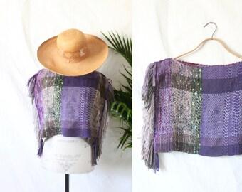 woven fringe poncho