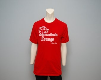 "Vintage ""Samantha's Lounge"" Akron, Ohio Red T-shirt"