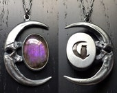 Lunar Eclipse Pendant - OoAK purple labradorite