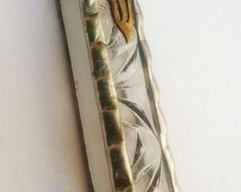 Mezuzah case Judaica Art  Handmade  Israel Jewish Stained Glass Design