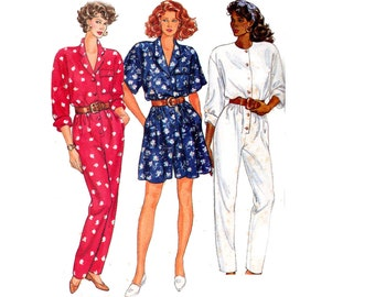 80s Jumpsuit Pattern Butterick 3508 Vintage Sewing Pattern Size 14 16 18 UNCUT Factory Folds Bust 36 38 40