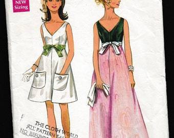Butterick 5106 Easy Misses' One-Piece Evening Dress