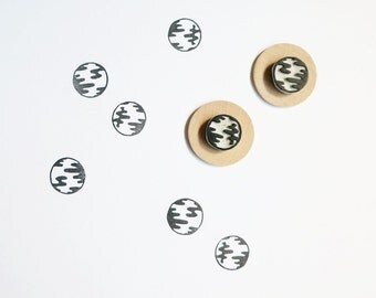 Crystal Balls - Set of Two Hand Carved Rubber Stamps