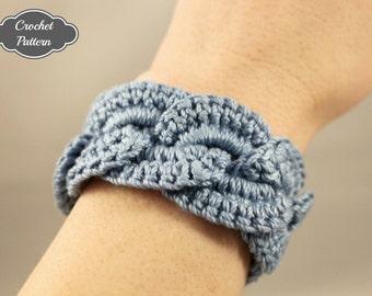 CROCHET PATTERN - Crochet Bracelet Infinity Link Cuff, Crochet Bracelet, Easy Crochet Pattern, Crochet Jewelry Pattern, Beginner Pattern