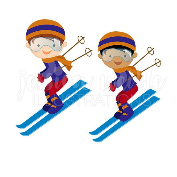 boy downhill skier cute digital clipart winter skiing clip art ski rh catchmyparty com ski clip art free ski clipart black and white