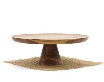 Wooden Sweet Gum Cake Stand / Pedestal Cake Plate /Cupcake Stand