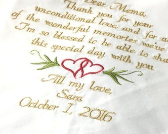 Grandma Gift Embroidered Handkerchief Grandmother Gift Blessed to  Share This Day With You - By Canyon Embroidery