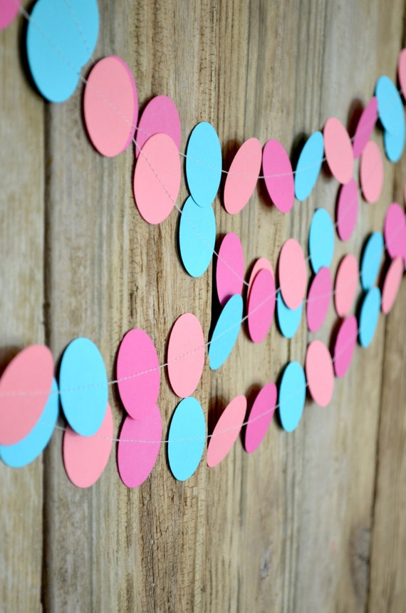 Customizable Multi Colored Circles Garland - 1.5 inch wide circles you can customize in the colors of your choice!