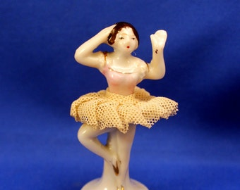 Miniature Ballerina Figurine Net Fabric Skirt made Japan