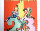"""Vintage Large Soft Cover Story Book """"Counting Rhymes"""" 1942"""