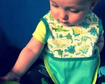 Bib Bapron Baby Drool Bib Full Coverage Wipe Clean Dinosaur Boy Bib