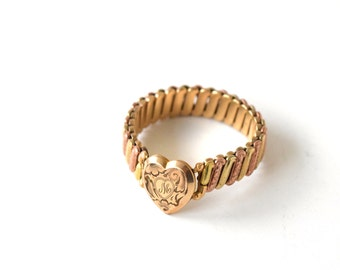 Vintage Sweetheart Expansion Bracelet With Locket Compartment c.1940s