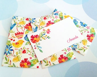 Personalized Mini Cards, Gift Enclosure Card, Mini Cards and Envelopes, Gift Card Holder, Set of 10