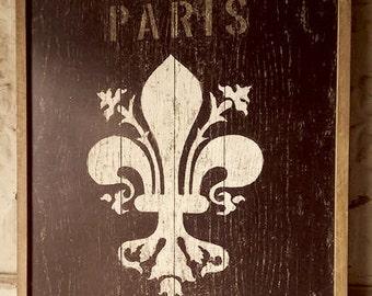 Wood Fleur Plaque