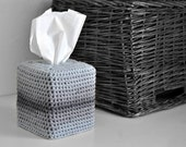Modern Square Tissue Box Cover Nursery Decoration Grey Ombre Home Decor Kleenex Box Cover