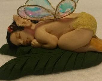 fairy pixie polymer clay birthstone baby art doll