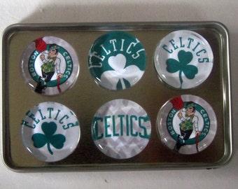 Boston Celtics Fridge Magnets - Boston Celtics Basketball Refrigerator Magnets Set of 6