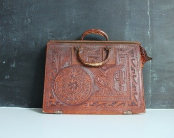 Vintage Leather Bag | Antique Leather Satchel