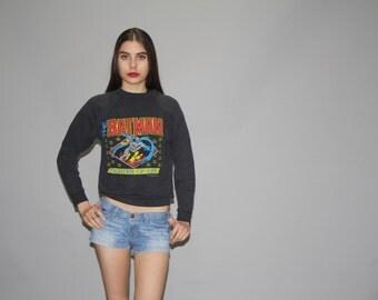Vintage 80s The Batman Sweatshirt   - Vintage 1980s Comic Book Super Hero Sweatshirt  - 50/50 Cotton Poly Sweatshirts -  WT0453