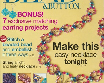 Bead & Button Magazine, August 2010 - Jewelry Making, Beading Resource, Back Issue