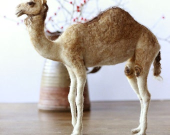 Needle felted Camel, Christmas nativity animal, READY TO SHIP