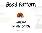 Rainbow Bead Pattern, Peyote / Bricks Stitch Bead Weaving | DIGITAL DOWNLOAD
