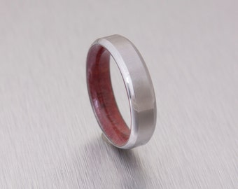 red cedar ring titanium band mens wedding ring wood ring wedding band