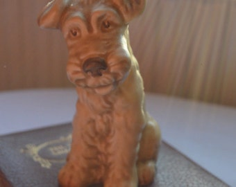 Vintage Sylvac Terrier, Beige Brown, Dog Figurine, Collectible, Model 1378, English Ceramics, Lovely Condition, Dog Lovers