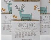 2018 Woodland Calendar 4x6