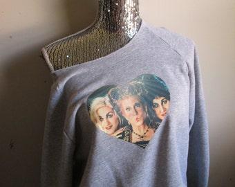 Hocus Pocus Sanderson Sisters Over Sized Off The Shoulder Sweatshirt