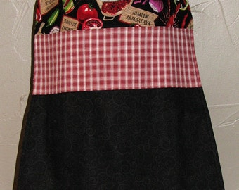 Adult Bib, Cajun Plaid and Swirls, Snack Bib, Clothing Protector, Make up Cover-up, Senior Bib