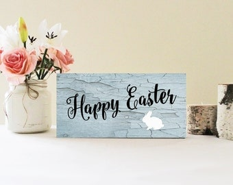 Happy Easter Wood Sign, Easter Decor, Easter Wall Decor