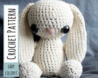 PATTERN - Crochet Bunny Amigurumi Stuffed Toy