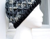 Crochet Lattice Hat - Urban Camo