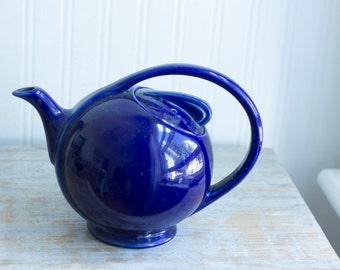 Vintage Hall Teapot, Streamline Teapot, 1940s 40s Teapot, Cobalt Blue Tea, Art Deco Teapot, Hall Art Deco, Hall Streamline, Vintage Kitchen