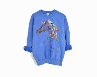 Vintage 90s Horse Spirit Sweatshirt - small