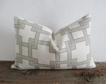 Linen Pillow Cover Thom Filicia Citysquare 12 x 18 Lumbar Both Sides