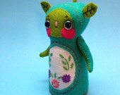 Sadie Sproutling - Art Doll - RESERVED for CAT - Do NOT Purchase - green plant sprout garden nymph soft sculpture