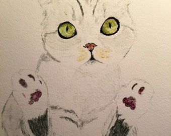 5x7 Watercolor portrait