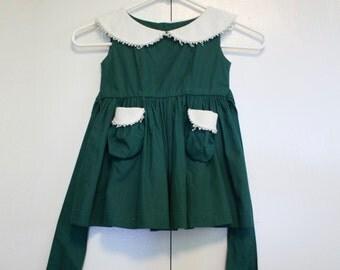 Hunter Green Dress - Toddler