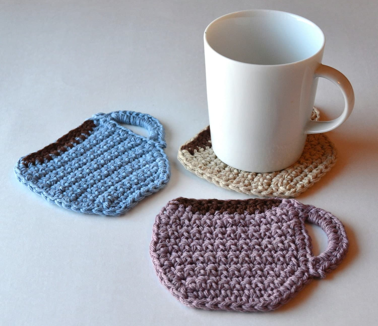 Coffee Cup Coasters Set Of 4 Or 6 Customizable Coffee Mug