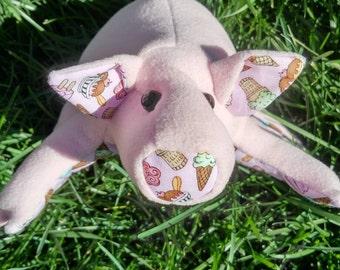 """Piggy stuffie - a 10"""" stuffed pig"""