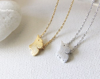 Cute Elephant Necklace in Silver/ Gold. Elephant Necklace. Safari. Good Luck. Birthday Gift. Gift For Her (PNL-154)