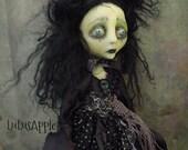 EmberLight Creepy Sad Goth witch Art Doll OOAK LuLusApple
